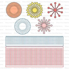 Paper Flower Centers SVG File - Stamen cutting files for Paper Flower Making, Paper Flower Template, Wedding Decor, Wall Decor, Scrapbooking - Fabric Crafts Paper Flower Patterns, Paper Flowers Craft, How To Make Paper Flowers, Large Paper Flowers, Felt Flowers, Flower Crafts, Paper Crafts, Flower Stamen, Papercraft