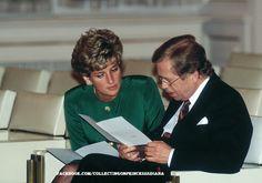 May 1991, Prague, Diana and Vaclav Havel
