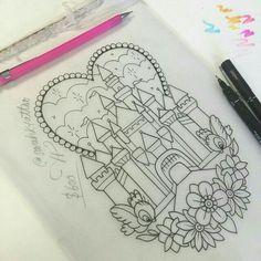 Cinderella's Castle tattoo
