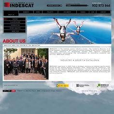 CORPORATE SITE DEVELOPMENT: Corporate site: INDESCAT (The Catalan sports industry cluster). Creativity, slogan, web design, programming, Back-office system.  DESARROLLO DE LA WEB CORPORATIVA: Web corporativa: INDESCAT (el clúster catalán de la industria del deporte). Creatividad, eslogan, diseño-web, programación, gestor de contenido.  CLIENT/CLIENTE: INDESCAT - CATALAN SPORTS CLUSTER (Barcelona, Spain)