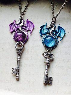 Dragon Necklace, Dragon Jewelry, Key Necklace, Choker Necklaces, Pendant Necklace, Key Jewelry, Cute Jewelry, Jewelery, Bullet Jewelry