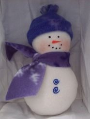 Learn to sew simple fleece snowmen with free full size pattern from Craft elf