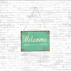 Vintage Welcome wall decor sign by Judydesignstore on Etsy