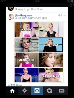 Happy b day!!! You are an amazing actress!!! Keep up the good work!!!