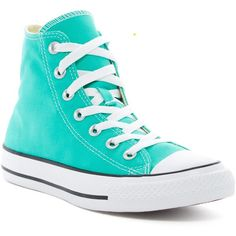 Converse Chuck Taylor All Star Hi Top Sneakers (Unisex) ($30) ❤ liked on Polyvore featuring shoes, sneakers, menta, unisex sneakers, high top shoes, canvas high tops, converse shoes and star sneakers