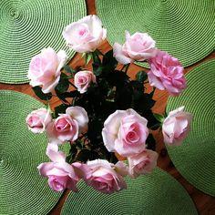 Małe przyjemności #littlepleasures #flowers #roses #ontable #natural #decoration