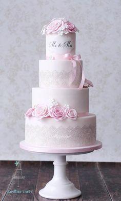 Classic wedding cake - Cake by Tamara Amazing Wedding Cakes, Elegant Wedding Cakes, Elegant Cakes, Wedding Cake Designs, Amazing Cakes, Cake Design Inspiration, Wedding Cake Inspiration, Gorgeous Cakes, Pretty Cakes