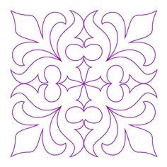 Morning Lily Block 3 – Digital – Quilts Complete – Longarm Continuous Line Quilting Patterns Morning Lily Quilting Stencils, Stencil Patterns, Stencil Designs, Tile Patterns, Pattern Art, Quilting Designs, Stencil Decor, Stencil Painting, Pottery Painting
