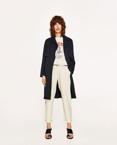 Image 1 of CHINO TROUSERS WITH METALLIC BELT from Zara