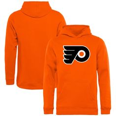 Philadelphia Flyers Rinkside Youth Primary Logo Pullover Hoodie - Orange