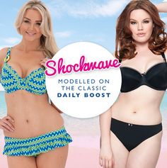Did you know we model our swimwear on your favourite lingerie pieces - that's how we know how good the fit is going to be! Check out Shockwave which has the same pattern as the daily boost for a perky day at the beach x