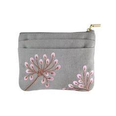 Amazon.com: Zip Wallet - Embroidered Dandelion (Deep Sea - Bronze): Clothing