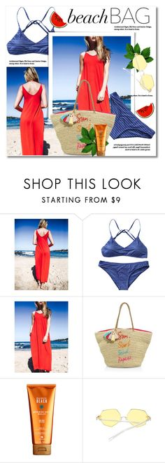 """beach bag"" by svijetlana ❤ liked on Polyvore featuring Rebecca Minkoff, Alterna, Beachbag and zaful"