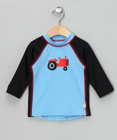 Take a look at this Light Blue Tractor Rashguard - Infant & Toddler by i play on #zulily today!