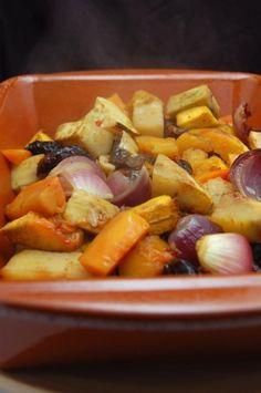 Marokkaanse geroosterde groenteschotel