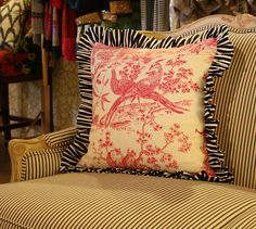 toile pillows | Found on flickr.com
