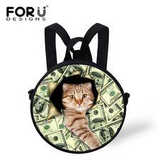Small Pet Cat Dog School Bag for Girls Preschool Baby Kid Kindergarten Book Bag Round Design School Bag Mochila infantil Escolar #Happy4Sales #backpack #bag #handbags #highschool #L09582 #shoulderbags #YLEY