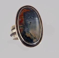vintage agate ring