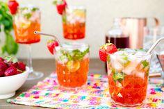 Strawberry Mojitos Recipe by Sarah Yates | west elm