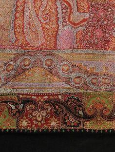 Fine Kashmir Handwoven 1840s Vintage Jamawar with Center Pashmina Shawl by  Aditi Cachemire, Foulards, bfafb6bc503