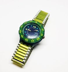 Green Swatch Watch for men Swatch watches for men Ladies Steampunk Watch, Antique Items, Happy Shopping, Swatch, Bracelet Watch, Watches For Men, I Am Awesome, Green, Etsy