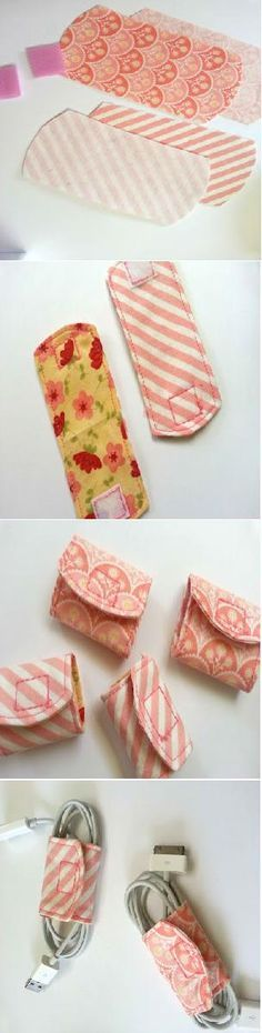DIY Cord Keeper From Fabric Scraps//this would make my junk drawer look so nice  :)