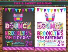 Bounce House Birthday Party Bounce House Invitation Jump Party