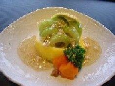 田村シェフの簡単レシピ:摘果メロンの鶏あんかけ