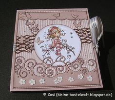 Kerstins kleine Bastelwelt: Romantische Buchkarte