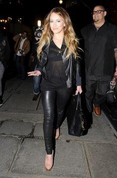 Hilary Duff... Black love... - Celebrity Street Style