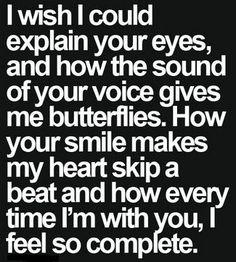 I wish you really knew.