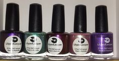 Lilypad Lacquer $10 each Vixens Wear Violet, Timeless Momints, Southern Skies, Tender Touch, Purple People Eater $6