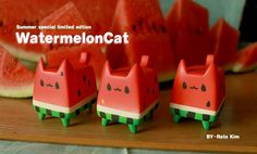 WatermelonCat By Rato Kim breadcat toy poster