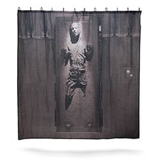 Han Solo in Carbonite Shower Curtain | ThinkGeek