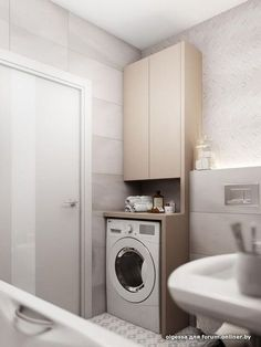 Bathroom Decorating – Home Decorating Ideas Kitchen and room Designs Laundry Room Bathroom, Narrow Bathroom, Small Laundry Rooms, Small Bathroom Storage, Laundry Room Design, Bathroom Toilets, Bathroom Layout, Bathroom Interior Design, Toilet Storage