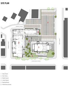 Orillia Public Library,Site Plan