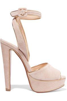 CHRISTIAN LOUBOUTIN Louloudance 140 lamé-trimmed suede sandals. #christianlouboutin #shoes #sandals