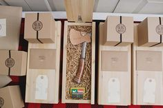 manly wedding favors #axe