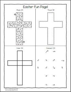 Christian Easter Worksheets for Kindergarten and First Grade - Mamas Learning Corner