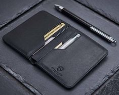 Vaultskin City Slim Handmade Bifold Leather Wallet with RFID Protection
