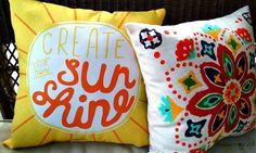 #createyourownsunshine Found this pillow at Kohls... love it! May 2016