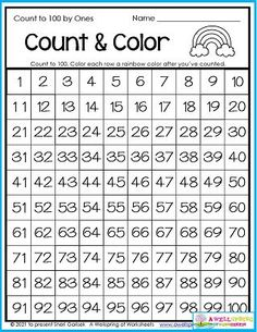 This worksheet is a great counting practice opportunity - all the way to 100! Keep practicing if you don't get it the first few times. I know it can be tough, because after all, that 's a lot of counting. Color each row a rainbow color when you've mastered it to mark your achievement! You'll find this page in my August Counting Worksheets set. It includes 30 pages of summer counting fun you don't want to miss out on, so please, check it out. Don't delay! Counting Worksheets For Kindergarten, Summer Worksheets, Graphing Worksheets, Counting To 100, Writing Lines, Learn To Count, Check It Out, Rainbow Colors, Opportunity
