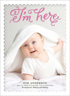 I'm Here Girl 5x7 Stationery Card by Yours Truly | Shutterfly