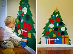 Árbol navideño de fieltro para los niños | Figi's