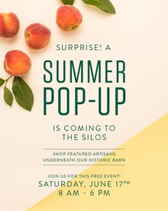 Surprise! A Summer Pop-Up is Coming to the Silos!