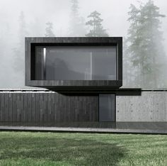 The house is located on a narrow and extended site and repeats its geometry. The composition consists of two prisms, which will represent the general and individual zones. The main objective for the house was organic influence with the surrounding wood. The geometry of the house... Floating Architecture, Modern Architecture Design, Minimalist Architecture, Concept Architecture, Residential Architecture, Modern House Design, Architecture Diagrams, Architecture Portfolio, House Architecture