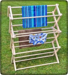 FOLDING DRYING RACK - Amish Handmade 30W x 37½H x 12½D Maple Wood Clothes Laundry Hanger Laundry Hanger, Drying Rack Laundry, Clothes Drying Racks, Amish Furniture, Primitive Furniture, Folding Laundry, Carpentry Skills, Store Design, Pie Safe