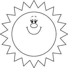 Printable Black And White Sun