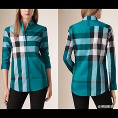 Auth Burberry Women's shirt New without tag. Auth Burberry women's plaid shirt. Never worn. Burberry Tops