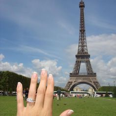 Halo engagement ring from Casie Walker